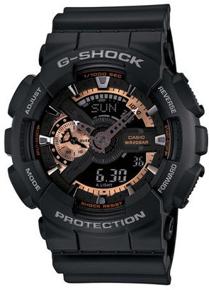 G-Shock 'X-Large' Rose Gold Dial Watch, 55Mm $130 thestylecure.com