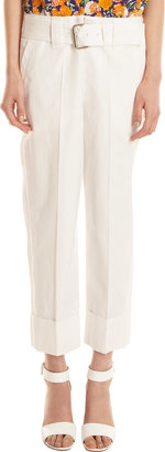 Marc Jacobs Belted Folded Cuff Cropped Pants