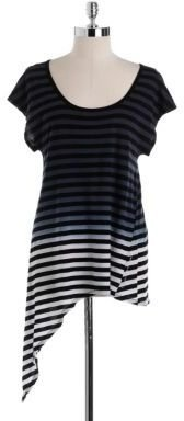 Calvin Klein Striped Side-Knot Tee