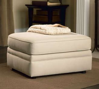 Pottery Barn Pearce Upholstered Ottoman - Performance everydaysuede &