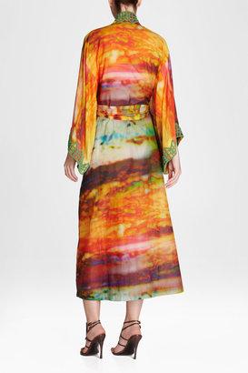 Josie Natori Couture Greentea Robe