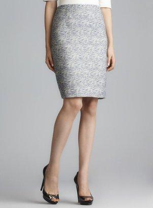 Calvin Klein Single Vented Tweed Slub Skirt