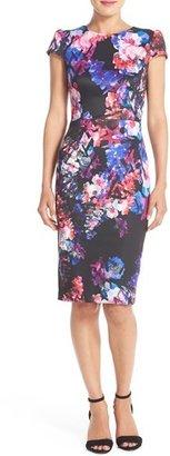 Betsey Johnson Print Stretch Midi Dress $148 thestylecure.com