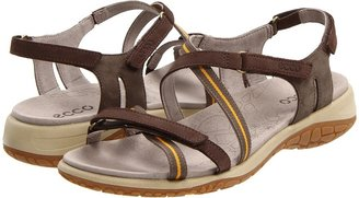 Ecco Kawaii Cross Strap (Shadow White/Wild Dove/Beetroot) - Footwear