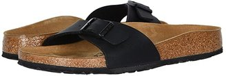Birkenstock Madrid Slip-On (Black Birko-Flor) Women's Sandals
