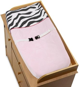 Sweet Jojo Designs Funky Zebra Changing Pad Cover in Pink