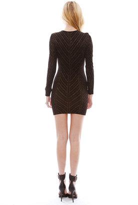 Torn By Ronny Kobo Danni Metallic Pointelle Dress