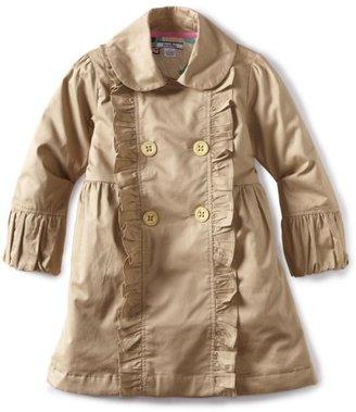 Hartstrings Girls 2-6X Little Sateen Double Breasted Coat
