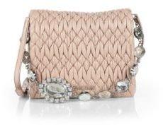 Miu Miu Embellished Square Shoulder Bag