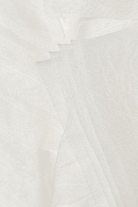 Oscar de la Renta Tiered silk-organza jacket