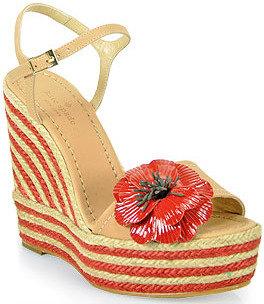 Kate Spade Lainey - Platform Wedge Sandal in Natural
