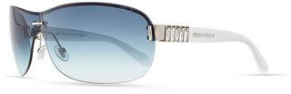Jimmy Choo Flo Gradient Shield Sunglasses, Blue/White