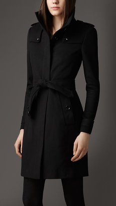 Burberry Fitted Virgin Wool Coat