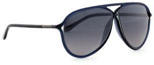 Tom Ford Maximillion Aviator Sunglasses, Shiny Blue