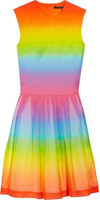 Christopher Kane Rainbow-print cotton and silk-blend dress