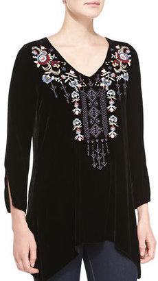 JWLA For Johnny Was Elise Velvet Pullover, Plus Size $260 thestylecure.com
