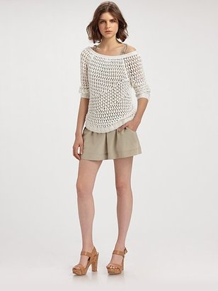 Theory Nimue Crocheted Sweater