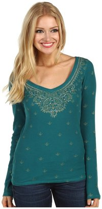 Lucky Brand Sari L/S Thermal Women's Long Sleeve Pullover