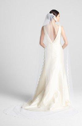 WEDDING BELLES NEW YORK 'Isabelle - Swarovski Crystal' Cathedral Veil $925 thestylecure.com