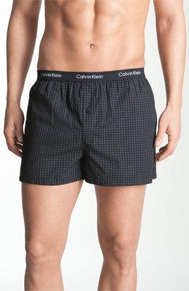 Men's Calvin Klein 'Matrix' Slim Fit Woven Boxers $19 thestylecure.com