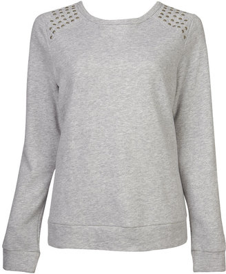 Forever 21 Shoulder Studded Sweatshirt