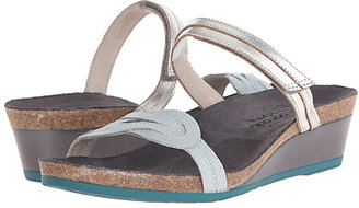Silver Luster & Sea Pearl Folklore Leather Sandal