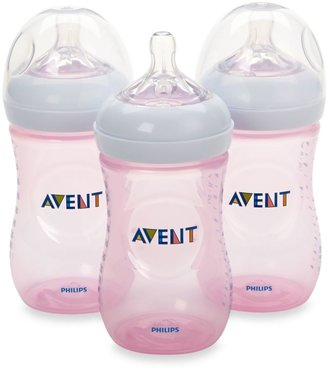 Phillips AVENT Natural 3-Pack 9 oz. Bottles in Pink