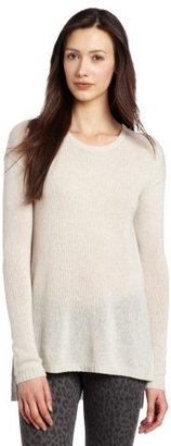 Autumn Cashmere Women's High/Low Loose Gauge Crew Sweater