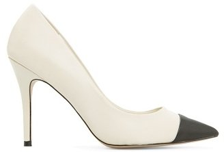 MANGO TOUCH - Contrast cap toe leather stilettos