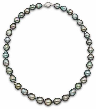 """Bloomingdale's Natural Color Tahitian Pearl Strand Necklace in 14K White Gold, 18"""""""