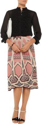 Temperley London Bow-embellished silk-chiffon blouse