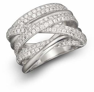 Bloomingdale's Diamond Crossover Band in 14K White Gold, 1.45 ct. t.w. - 100% Exclusive
