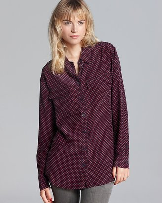 Equipment Blouse - Dot Printed Signature