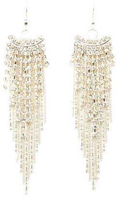 Charlotte Russe Chain & Rhinestone Chandelier Earrings