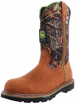 """John Deere Men's 11"""" Mossy Oak Camo Steel Toe Boot"""