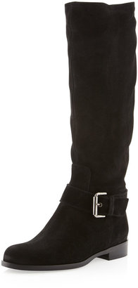 Sesto Meucci Dusty Suede Buckled Boot, Black
