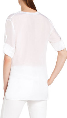 BCBGMAXAZRIA Semra Button-Front Top