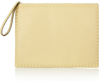 Valentino The Rockstud large leather clutch