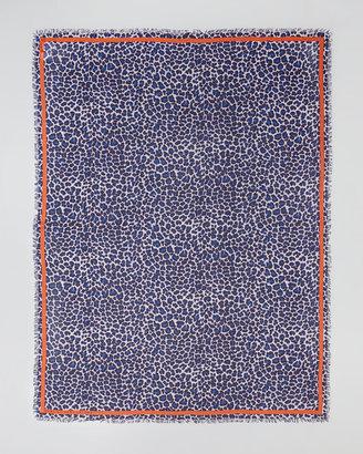 Marc by Marc Jacobs Leonora Leopard-Print Scarf, Blue/Multi