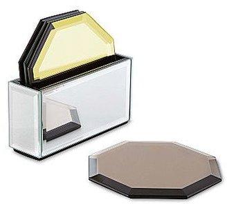 Jonathan Adler Set of 4 Mirrored Glass Coasters