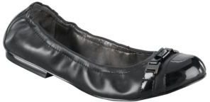 Tahari Veronica Cap-Toe Leather Flats