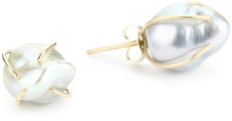"Melissa Joy Manning Not Your Mother's Pearls"" Large Akoya Pearl Earrings"
