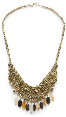 MANGO TOUCH - Embellished chains necklace