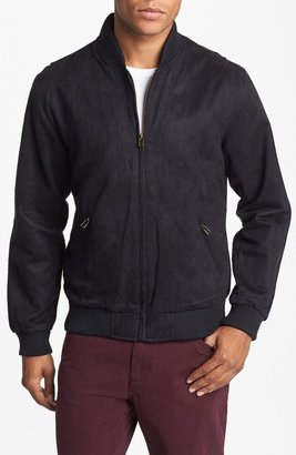 Obey 'Marcade' Faux Suede Bomber Jacket