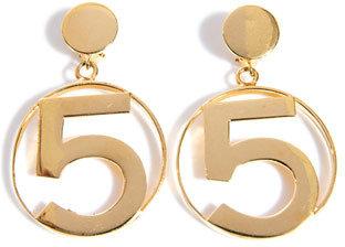 Chanel 5 Detail hoop earrings