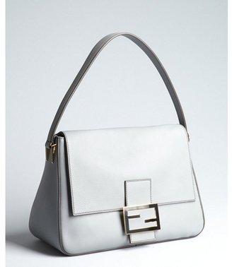 Fendi grey leather 'Mamma' shoulder bag