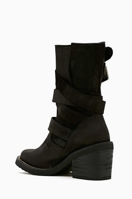 Nasty Gal Jeffrey Campbell Deanne Strapped Boot - Black