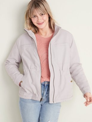 Old Navy Sherpa-Lined Utility Jacket for Women