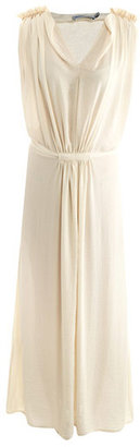 See by Chloe Pleated shoulder maxi dress