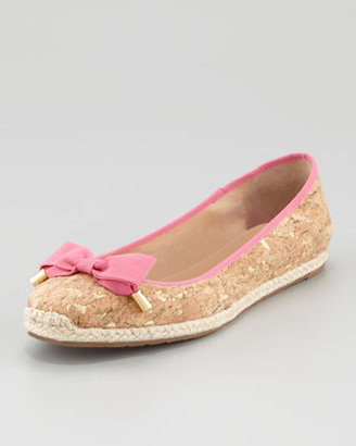 Kate Spade Valarie Cork Ballerina Flat, Pink